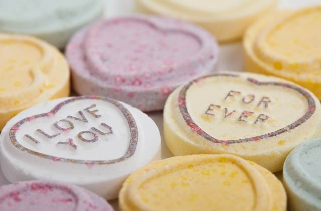 love heart sweets 'for ever'
