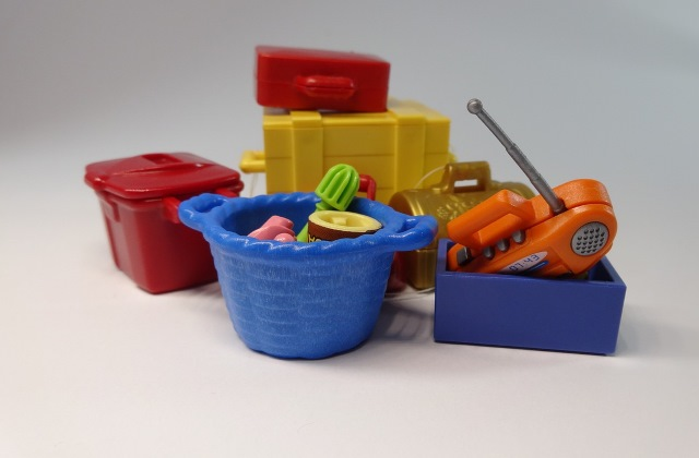 Decluttering of playmobil toys